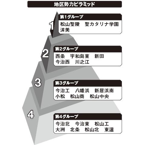 愛媛 勢力ピラミッド