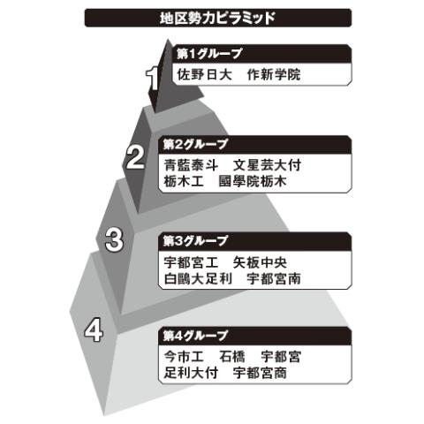 栃木地区勢力ピラミッド