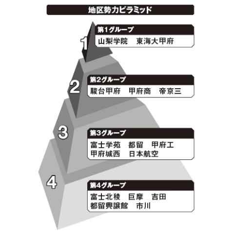 山梨地区勢力ピラミッド